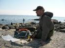 Hanös kust är vacker, och vad pasar bättre än en kall öl i solen?