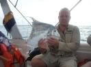 Något seriöst stort har tagit en tugga av denna fisk..