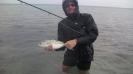 Regnväder var bra fiskeväder. Tord med en Jack